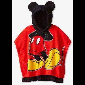 Toddler Mickey Mouse Plush Hooded Poncho
